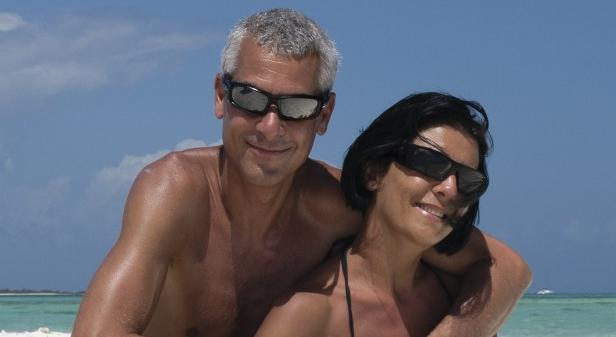 Sun-Tanned Couple