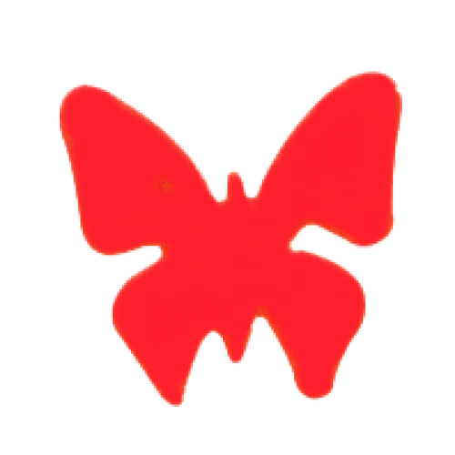 butterfly tanning sticker
