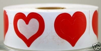 heart tanning stickers