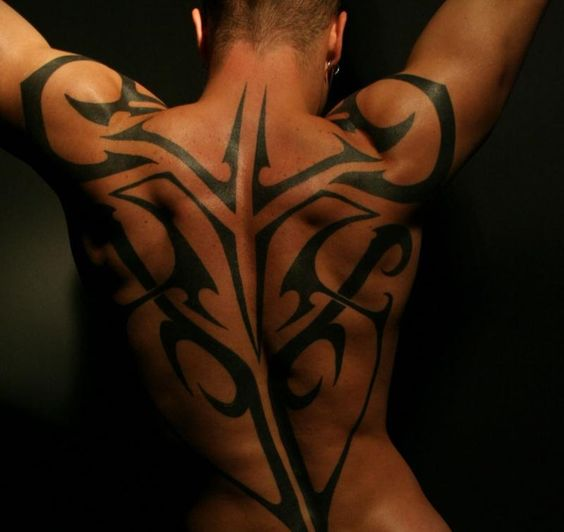 Tattoos down the spine