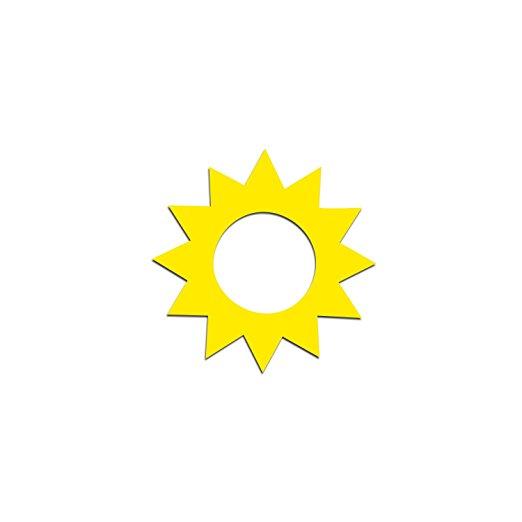 Sunshine tanning stickers