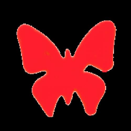 butterfly tanning sticker