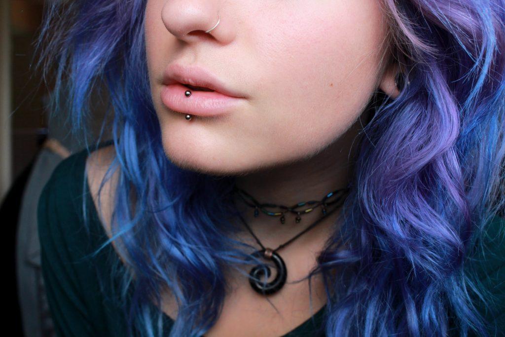 Inverted Labret Piercing