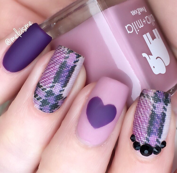 ... trendy nail art designs. The purple nail designs seem to be the thing,  probably because the color is associated with womanhood as well as with  royalty. - Art Ideas For Purple Nail Designs Beauty Logic Blog